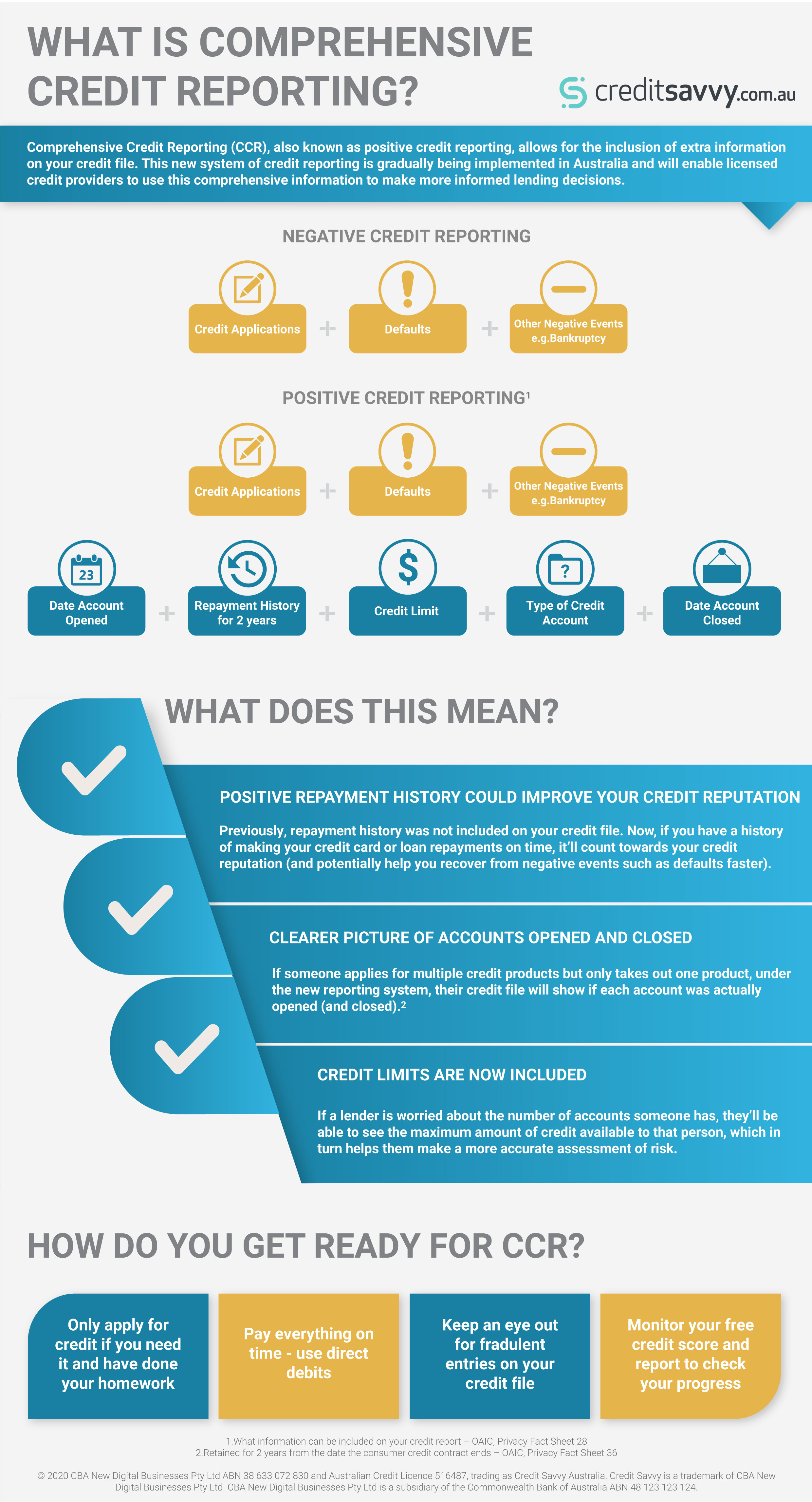Comprehensive Credit Reporting Infographic