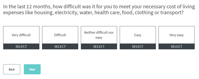 Financial Wellbeing Survey Question